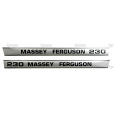 Aufkleber Aufklebersatz Haubenaufkleber Typenschild für Massey Ferguson MF 230