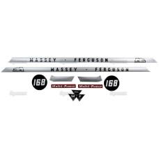 Aufkleber Aufklebersatz Haubenaufkleber Typenschild für Massey Ferguson MF 165