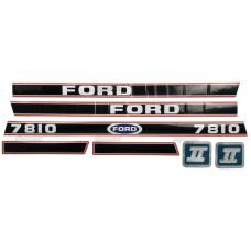 Aufkleber Aufklebersatz Haubenaufkleber Typenschild für Ford / New Holland 7810