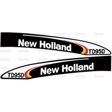 Aufkleber Aufklebersatz Haubenaufkleber Typenschild für Ford / New Holland TD95D