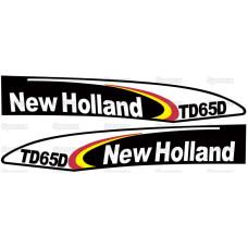 Aufkleber Aufklebersatz Haubenaufkleber Typenschild für Ford / New Holland TD65D