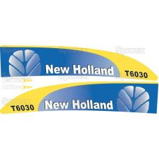 Aufkleber Aufklebersatz Haubenaufkleber Typenschild für Ford / New Holland 7630