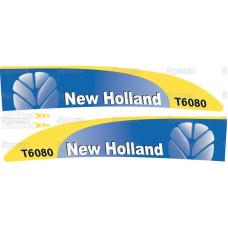 Aufkleber Aufklebersatz Haubenaufkleber Typenschild für Ford / New Holland 8210 Force II