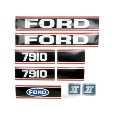Aufkleber Aufklebersatz Haubenaufkleber Typenschild für Ford / New Holland 7910 Force II
