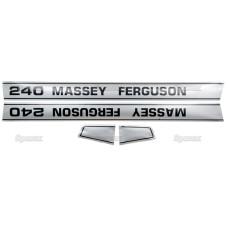 Aufkleber Aufklebersatz Haubenaufkleber Typenschild für Massey Ferguson MF 188