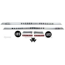 Aufkleber Aufklebersatz Haubenaufkleber Typenschild für Massey Ferguson MF 178