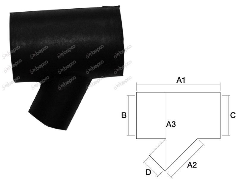 Kühlerschlauch By-Bass für Case IHC D215 D219 D322 D326 D432 D439 3051982R2